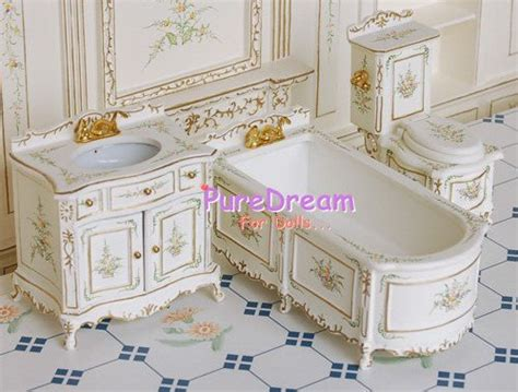 Miniature Dollhouse Bathroom Furniture