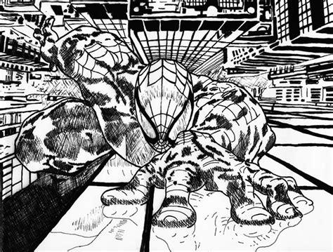 gallery cross hatching spider man drawings art gallery