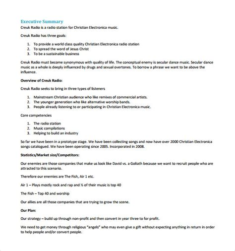 sample startup business plan template   documents