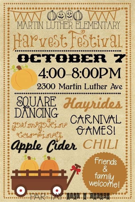 Harvest Festival Invitation Party Like a Cherry 1000