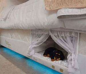this mattress has a dog bed built into the side of it With bed frame with dog kennel