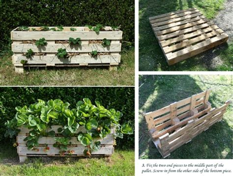 strawberry garden designs diy strawberry pallet planter home design garden architecture blog magazine