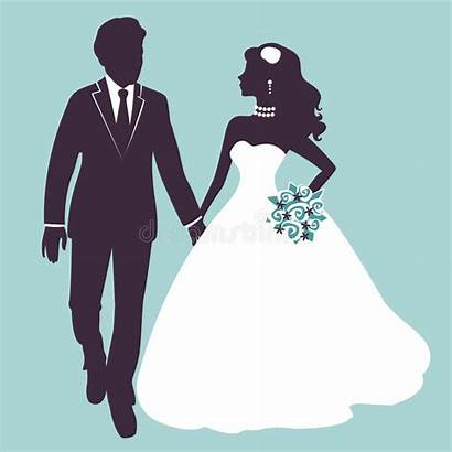 Silhouette Couple Vector Bride Elegant Silhouettes Groom