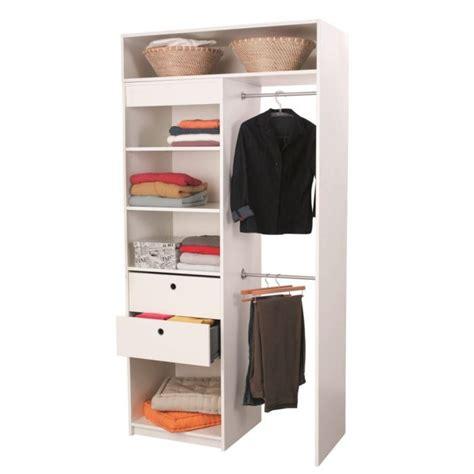 dressing chambre pas cher graine kit dressing extensible blanc achat vente