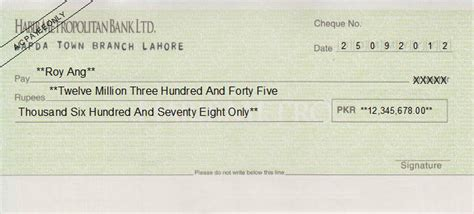 Cheque Writing/ Printing Software for Pakistan Banks