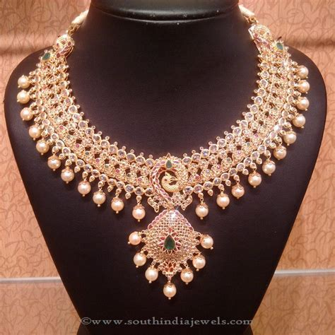 embellished choker necklace designs page 2 of 12 south india jewels