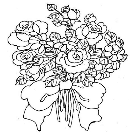 Wedding Flowers Coloring Pages Icolor Quot Quot Nosegay Bouquet Icolor Quot