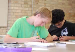 High School Students Writing