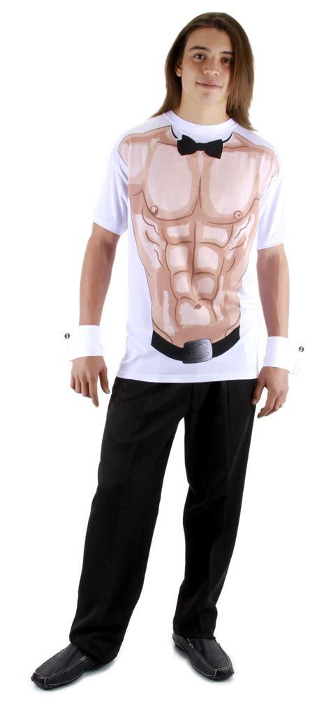 Male Stripper Shirt Cuffs Bow tie Chippendales Adult Costume S M L XL 2XL | eBay