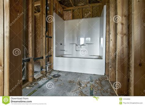 Home Bathroom Construction 2 Stock Image   Image: 14164955