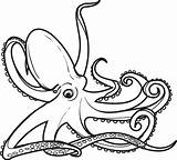 Octopus Coloring Printable sketch template