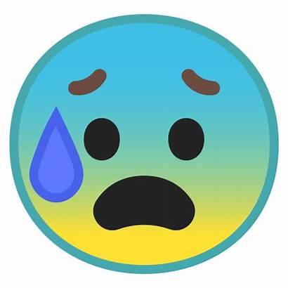 Icon Face Anxious Emoji Sweat Ansia Sueur