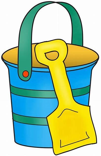 Clipart Beach Spade Pail Clip Bucket Shovel