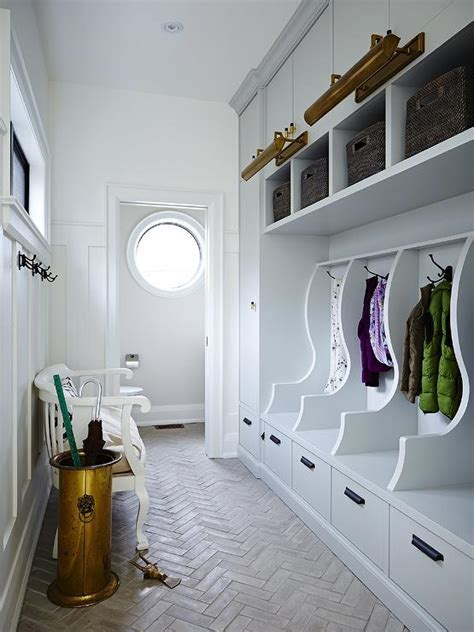 Numbered Mudroom Lockers   Transitional   Laundry Room