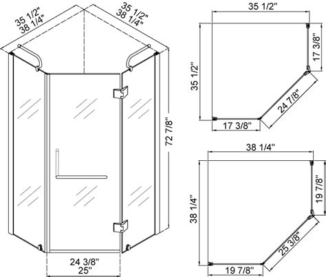 small shower size dreamline neo shower enclosure without base shen 2038388