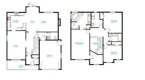 2 floor plans two house plans with master on second floor amazing
