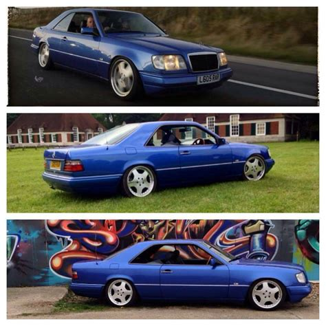 mercedes w124 coupe mercedes coupe w124 e220 colour mauritius blue lowered and static in hoxton