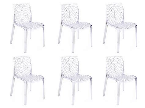 lot de chaise pas cher lot de 6 chaises diademe empilables en polycarbonate