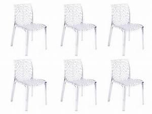Lot De 6 Chaises Pas Cher : lot de 6 chaises diademe empilables en polycarbonate chaises vente unique ventes pas ~ Teatrodelosmanantiales.com Idées de Décoration