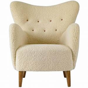 Scandinavian Sheepskin Lounge Chair At 1stdibs
