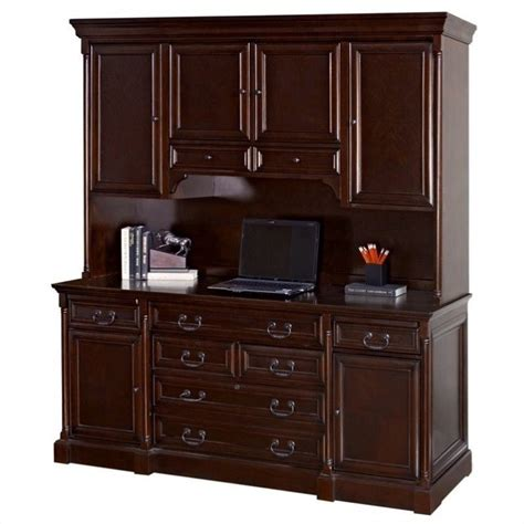 credenza desk and hutch kathy ireland home by martin mount view wood credenza desk