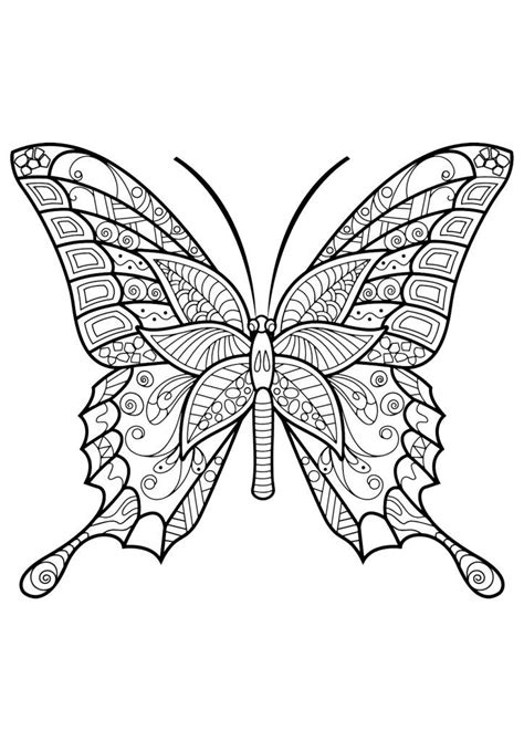 butterfly coloring pages  adults butterfly coloring page insect coloring pages mandala