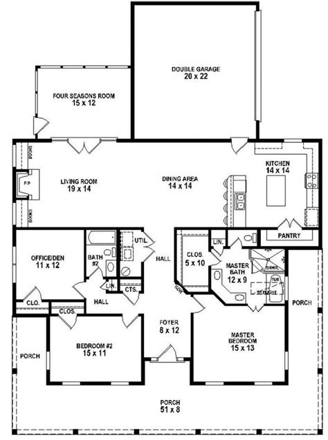 southern style floor plans 653881 3 bedroom 2 bath southern style house plan with