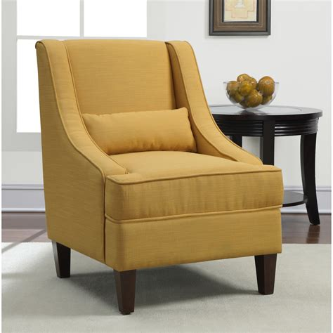 yellow upholstery arm chair seat living room