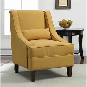 French yellow upholstery arm chair seat living room for Arm chairs living room