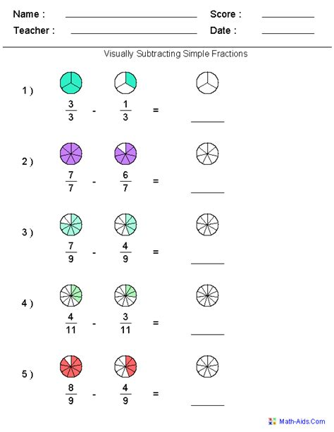 fractions worksheets printable fractions worksheets for