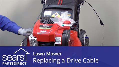 replacing  drive cable   lawn mower youtube