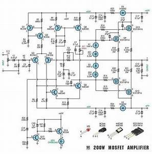 200w Subwoofer Amplifier Circuit