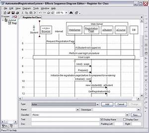 View Sequence Diagram Editor Screenshot