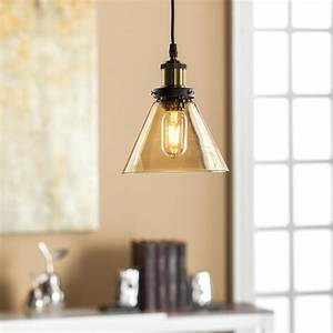Colored glass pendant light doteco