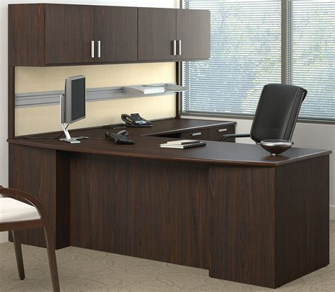 custom office desk furniture methods custom 84 quot managers l desk w wall mounted hutch
