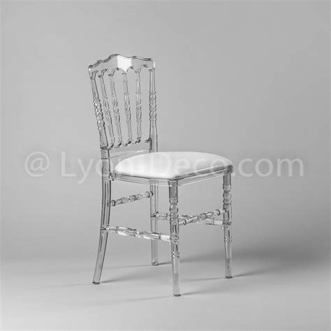 chaise cristal location chaise napoleon 3 cristal avec assise simili cuir