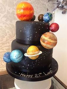 Solar System Craft Cake Ideas and Designs