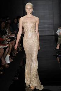 Ethereal nude and gold metallic wedding dress onewedcom for Ethereal wedding dress