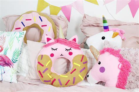 kissen selber machen diy donut kissen mit einhorn motiv selber machen anleitung ohne n 228 hen