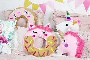 Brötchenkorb Selber Nähen : diy donut kissen mit einhorn motiv selber machen anleitung ohne n hen ~ Markanthonyermac.com Haus und Dekorationen