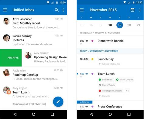 outlook android app microsoft outlook 2 0 mit gro 223 em redesign f 252 r android