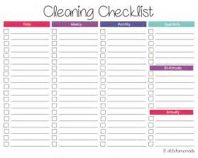 House Cleaning Checklist Printable