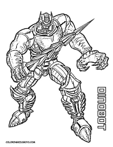 transmissionpress dinobot transformers coloring pages