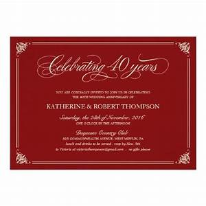 25 best anniversary invitations ideas on pinterest With cheap 40th wedding anniversary invitations