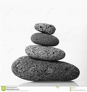 Cairn Of Smooth Stones. Royalty Free Stock Images - Image ...