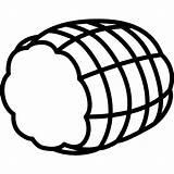 Ham Icon Smocked Silhouette Pork Svg Icons Wiener Schnitzel Suckling Pig Meat Edit Flaticon German Others sketch template