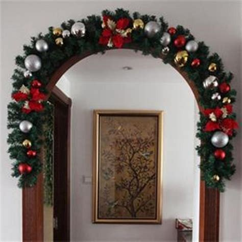 Luxury Thick Mantel Fireplace Christmas Garland Pine Tree