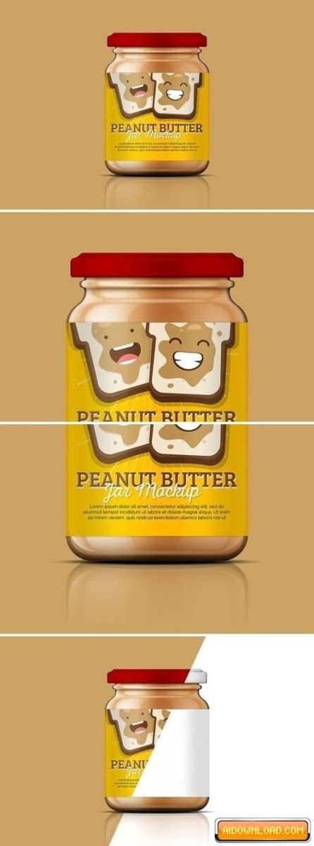 Free adobe illustrator course for beginners. Peanut Butter Jar Mockup Free Download   Free Graphic ...