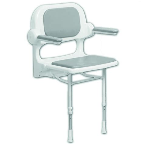 standard fold up shower seat with back and arms akw