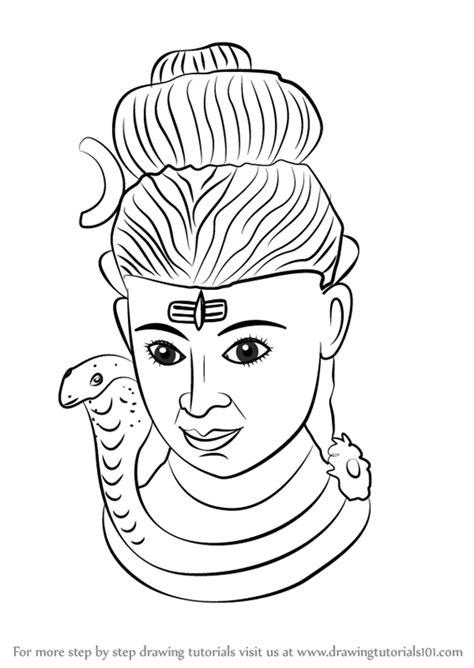 step  step   draw lord shiva statue
